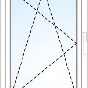 Einflügeliges Fenster kipp/dreh