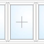 Dreiteiliges Fenster fix im Flügel