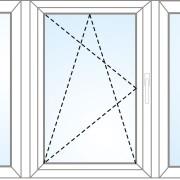 Dreiteiliges Fenster fix im Rahmen + kipp/dreh