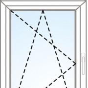Senkrechtes Fenster fix im Rahmen + kipp/dreh