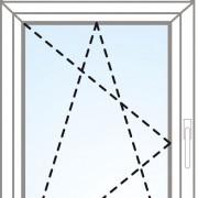 Senkrechtes Fenster fix im Flügel + kipp/dreh