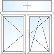 Senkrechtes Fenster im Rahmen + dreh + kipp/dreh