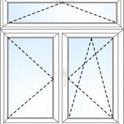 Senkrechtes Fenster kipp + dreh + kipp/dreh