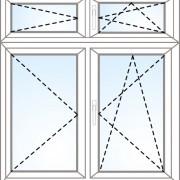Senkrechtes Fenster dreh + kipp/dreh + dreh + kipp/dreh
