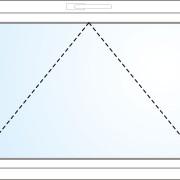 Einflügeliges Fenster kipp