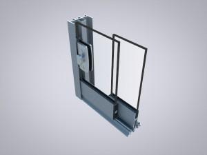 Glas-Schiebe-Tür Serie 16